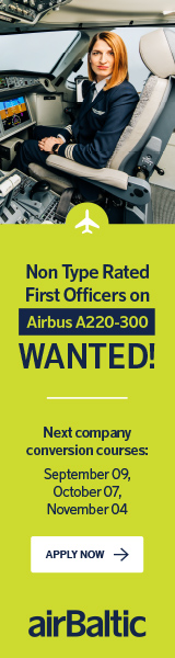 airBaltic August Campaign Direct Entry First Officer Airbus A220-300